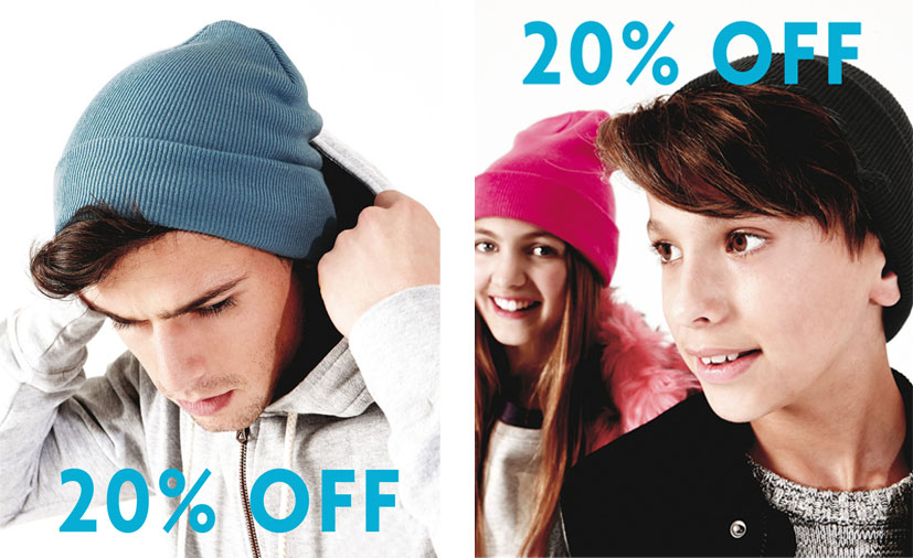 20% Off Embroidered Beanie