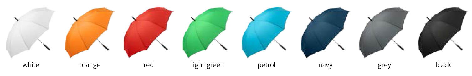 The Print Factory Promotion Umbrella colours